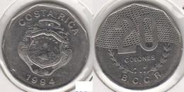 Costa Rica 20 Colones 1994 KM#216.1 - Used - Costa Rica