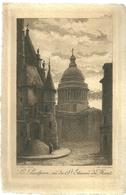 75 CPA Paris Gravure Eau Forte Pantheon Saint Etienne Du Mont  Charles Pinet Graveur N° 18 - Pantheon