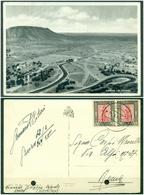 CARTOLINA - Z650 ITALIA COLONIE LIBIA Cartolina Illustrata (Garian, Altipiano) Affrancata Con Pittorica 10 C.coppia, - Libia