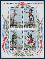 FR 1989/1990 Les Personnages Célèbres De La Révolution     Blocs N°YT 10-12-13 ** MNH (3 Scans) - Blocchi & Foglietti