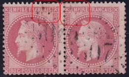 N°32 Très Rare Paire Positions 8 Et 9A1, Variétés Suarnet 4 Et 5 Se Tenant, RRR Et TB - 1863-1870 Napoléon III Lauré
