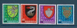 Timbre Neuf** De Suisse, N°1096-9 Yt , Pro Juventute 1979, Armories Communales, Licorne, Raisin - Suisse