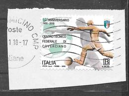 Italia 2018 60º Anniversario Del Centro Federale Di Coverciano. Usato - 6. 1946-.. Repubblica