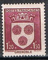 FRANCE : N° 557 ** (Armoiries De Grenoble) - PRIX FIXE : 1/3 De La Cote - - Neufs