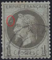 N°25 Avec Tache Blanche Devant Le Front, Pas Courant, 1er Choix, Dentelure Irrégulière - 1863-1870 Napoléon III Lauré