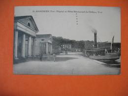 CPA    St-Mandrier - Hôpital Et Hôtel Restaurant Du Château Vert   1924 - Saint-Mandrier-sur-Mer