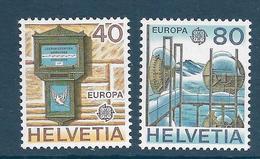 Timbre Neuf** De Suisse, N°1084-5 Yt , Europa 1979, Histoire Des PTT, Boîte Aux Lettres, Relai Alpin - Suisse