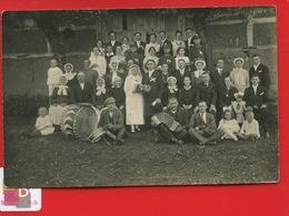 BELLE CPA Carte Photo  Cliché Très Net Un Mariage Vers 1910 Musiciens Accordéon Grosse Caisse Violon Mariés Famille - Evénements