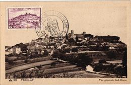 VEZELAY ,CROISADE DE LA PAIX,TIMBRE ,CACHET A VOIR REF 58671A - Timbres