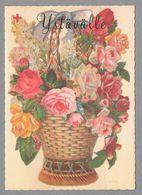 Postal Stationery Red Cross Finland (SPR 34) - Rose Basket (Valentine's Day) - Used - Finlande