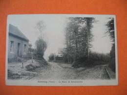 CPA    Sebourg - La Route De Sebourquiau - Seclin