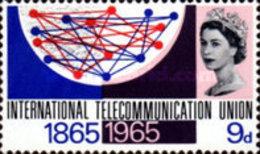 USED  STAMPS Great-Britain - The 100th Anniversary Of ITU- 1965 - 1952-.... (Elizabeth II)