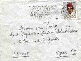 Maroc Morocco Lettre Cover Rabat 1971 OMEC Recensement Oblitération Mécanique - Maroc (1956-...)