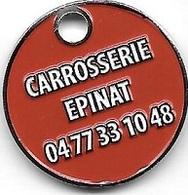 Jeton De Caddie  Argenté  Ville, Automobile  CARROSSERIE  EPINAT  0  SAINT - ETIENNE  ( 42 ) - Jetons De Caddies