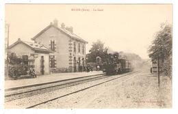 CPA 27 MUIDS La Gare Locomotive, Train - Muids