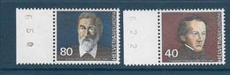 Timbre Neuf** De Suisse, N°1104-5 Yt , Europa 1980,, Johann Konrad Kern, Gustav Adolf Hasler - Suisse