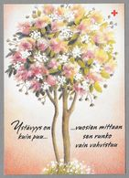 Postal Stationery Red Cross Finland (SPR 21) - Tree With Flowers (Valentine's Day) Illustr. Tarja Ilola - Used - Finlande