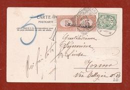 """SEGNATASSE REGNO 5c. Coppia Con """" ANNULLATO """"  SU CARTOLINA DA GRAND SAINT-BERNARD 15/9/1905 V.note - 1900-44 Vittorio Emanuele III"""