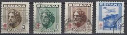 España U 1040/1043 (o) Tuberculosos. 1948 - 1931-50 Gebraucht