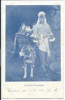 CPA - LAITIERE FLAMANDE ET SON CHIEN - Belgique - écrite 1903 - Street Merchants