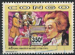 Congo 1991 Oblitéré Used Stamp Musique Wolfgang Amadeus Mozart - Kongo - Brazzaville