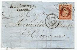 - HAUTE SAONE - VESOUL PC.3546 S/TPND Napoleon III N°16 + Càd T.15 - 1858 - 1853-1860 Napoléon III