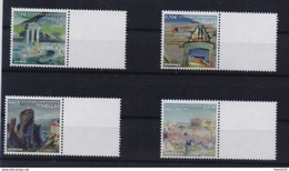 GREECE  PERSONAL STAMP WITH BLANK LABEL/GREEK MONUMENTS OF WORLD CULTURAL HERITAGE(4pcs) -20/6/09-MNH-COMPLETE SET(L7) - Greece