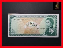 EAST CARIBBEAN 5 Dollars 1965  P. 14  SIG. 6  XF +  Stain - Caraïbes Orientales