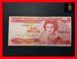 EAST CARIBBEAN 1 Dollar 1986  P. 17 A  ANTIGUA  VF+ - Caraïbes Orientales