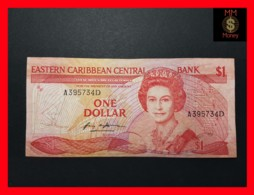 EAST CARIBBEAN 1 Dollar 1986  P. 17 D  DOMINICA  VF - Caraïbes Orientales