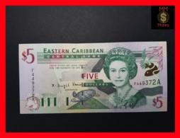 EAST CARIBBEAN 5 Dollars 2001 P. 37 A Antigua - Caraïbes Orientales