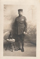 Rare Photo Carte Tirailleur Avec Médailles Et Chevrons - 1914-18