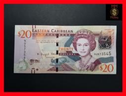 EAST CARIBBEAN 20 Dollars 2015  P. 53 B Wide Segmented Security Thread  UNC - Caraïbes Orientales