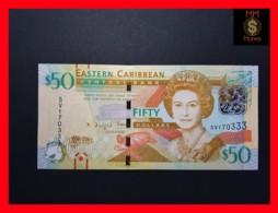 EAST CARIBBEAN 50 Dollars 2015 P. 54 B Wide Segmented Security Thread  UNC - Caraïbes Orientales