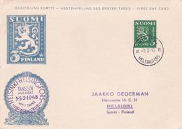 First Day Card - Finland / Suomi - 1948 - Finlande