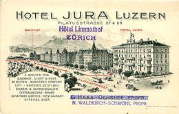 Pub Format Cpa LUZERN Hotel JURA - LU Lucerne