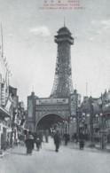 Osaka Japan, Original Tsutennaku Tower Near Luna Park Amusement Park C1920s/30s Vintage Japanese Postcard - Osaka