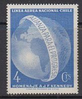 Chile 1964 J.F. Kennedy / Linea Aerea Nacional Chile 1v ** Mnh (41696B) - Chile