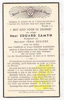 DP Eduard Samyn / Maddelein ° Noordschote Lo Reninge 1864 † 1938 X Irma Gekiere - Images Religieuses
