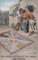 The Sacred Picture Of The Indian , Sand Painter , 00-10s - Native Americans