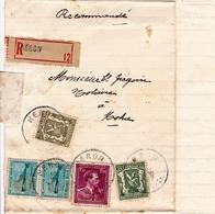 Lettre Recommandée 1947 Héron Belgique Grégoire Notaire Moha - Autres