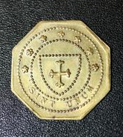 """Jeton De Nécessité """"Dieu Protège La France"""" Patronage Saint Thomas D'Aquin - Le Havre - Normandie - Monétaires / De Nécessité"""