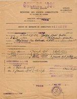 VP14.313 - MILITARIA - PARIS 1957 - Guerre 39 / 54 - Brevet De Retraite Du Combattant - Mr COLOMBIER à VILLEPARISIS - Documents