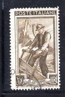 XP2764 - REPUBBLICA 1950 LAVORO Ruota  , 200 Lire N. 652  Usato  Ruota 2 DB  Dent  14 1/4 X 13 1/4 - 6. 1946-.. Repubblica