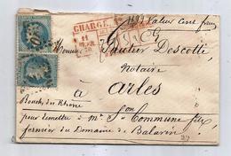 - BOUCHES DU RHONE - MARSEILLE GC.2240 S/TP Napoléon Lauré N°29x2 - CHARGE - 1870 - 1863-1870 Napoléon III Lauré