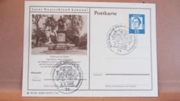 BRD: GA-Bildpostkarte M.15 Pf Martin Luther Bild: Robert-Mayer-Denkmal, SSt. HEILBRONN Vom 4.5.66 Partnerschaft Talbot - Storia Postale