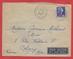 """20F MULLER Surchargé CFA - Sur Enveloppe """"POINTE DES GALETS / REUNION"""" - 1958 - - Postmark Collection (Covers)"""