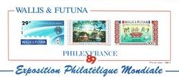 "Wallis And Futuna, ""Philexfrance'89"", Philatelic Fair, Paris, 1989, MNH VF  Souvenir Sheet Of 2 - Wallis And Futuna"