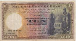 EGYPT  P. 23d 10 P 1951 VF - Egypte