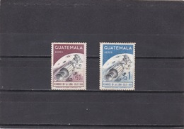 Guatemala Nº A449 Al A450 Con Manchas En La Goma - Guatemala